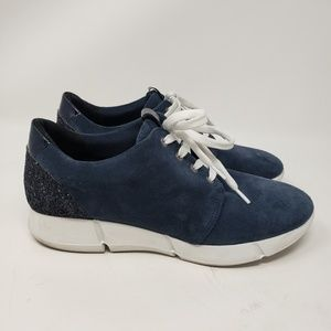 Feets You blue suede glitter sneakers 40